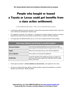 People who bought or leased a class action settlement.