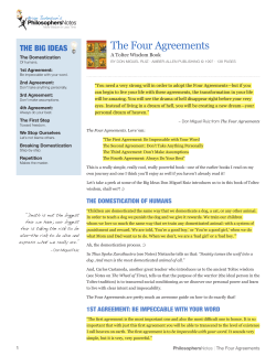 The Four Agreements THE BIG IDEAS Philosophers