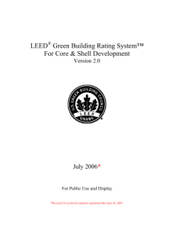 LEED Green Building Rating System™ For Core & Shell Development