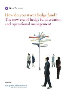 How do you start a hedge fund? and operational management Co-authored by: