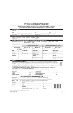OPTION AGREEMENT AND APPROVAL FORM