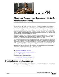 44 Monitoring Service Level Agreements (SLAs) To Maintain Connectivity