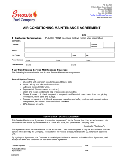 AIR CONDITIONING MAINTENANCE AGREEMENT  correctly.