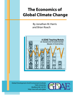 The Economics of Global Climate Change By Jonathan M. Harris and Brian Roach