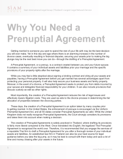 Why You Need a Prenuptial Agreement