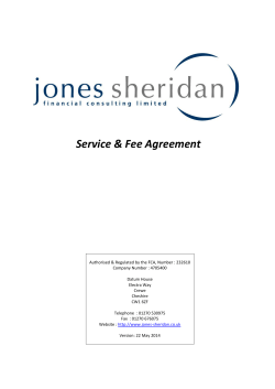 Service & Fee Agreement