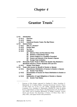 Grantor Trusts Chapter 4