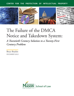 The Failure of the DMCA Notice and Takedown System: Century Problem