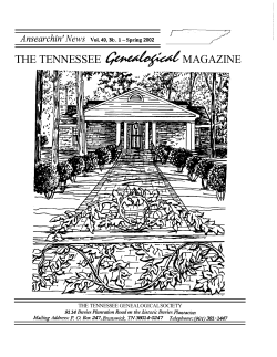 THE TENNESSEE MAGAZINE