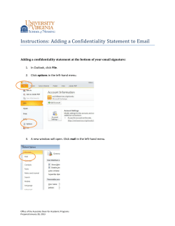Instructions: Adding a Confidentiality Statement to Email  File options