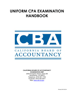 UNIFORM CPA EXAMINATION HANDBOOK