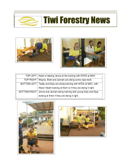 Tiwi Forestry News