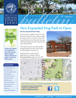 New Expanded Dog Park to Open