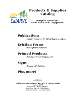 CalARVC Products & Supplies Catalog Publications
