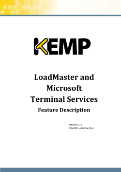LoadMaster and Microsoft Terminal Services Feature Description