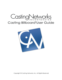 Casting Networks Submission Software
