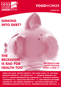 FOOD SINKING INTO DEBT? THE