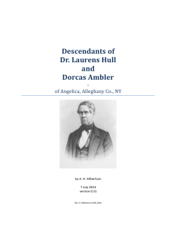 Descendants of Dr. Laurens Hull and