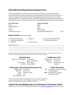 NIU SoM Recording Services Request Form