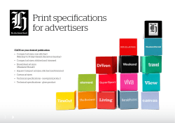 Print	specifications for	advertisers