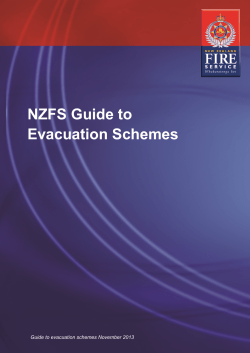 NZFS Guide to Evacuation Schemes Guide to evacuation schemes November 2013