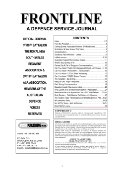 A DEFENCE SERVICE JOURNAL OFFICIAL JOURNAL 1 /19