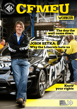 » John setka: the day the wall came down