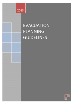 EVACUATION PLANNING GUIDELINES