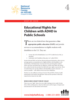 4 T Educational Rights for Children with ADHD in