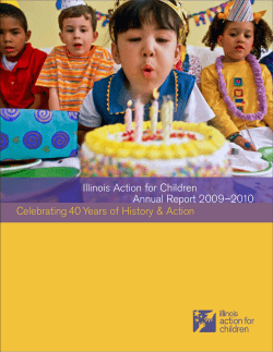 Illinois Action for Children  Annual Report 2009–2010