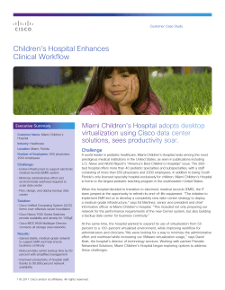 Children's Hospital Enhances Clinical Workflow Challenge Executive Summary