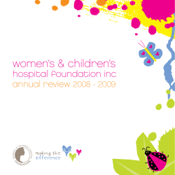women's & children's  hospital foundation inc annual review
