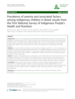 Prevalence of anemia and associated factors 's