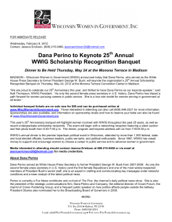 Dana Perino to Keynote 25 Annual WWIG Scholarship Recognition Banquet