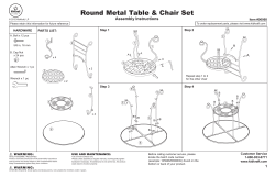 Round Metal Table & Chair Set Assembly Instructions