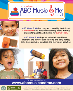 ABC Music & Me who have been teaching award-winning