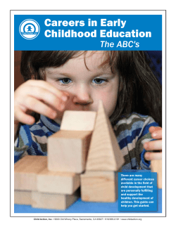 Careers in Early Childhood Education The ABC's