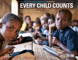 EVERY CHILD COUNTS Revealing disparities, advancing children's rights
