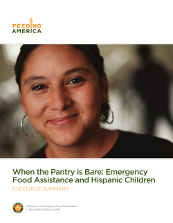 When the Pantry is Bare: Emergency Food Assistance and Hispanic Children