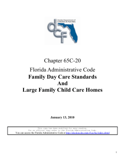 Chapter 65C-20  Family Day Care Standards And