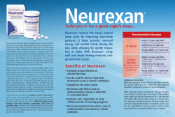 Neurexan restores the body's natural sleep cycle. By improving poor-sleep