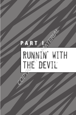 Runnin' with the Devil COPYRIGHTED MATERIAL P A R T   I