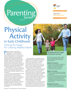 P in Early Childhood: Setting the Stage for Lifelong Healthy Habits