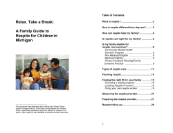 Relax. Take a Break:  Table of Contents