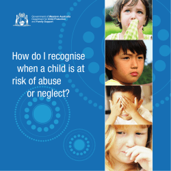 How do I recognise when a child is at risk of abuse