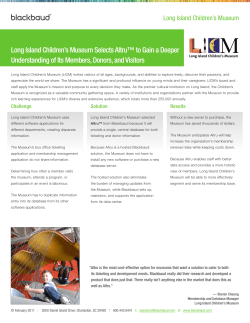 Long Island Children's Museum Selects Altru™ to Gain a Deeper