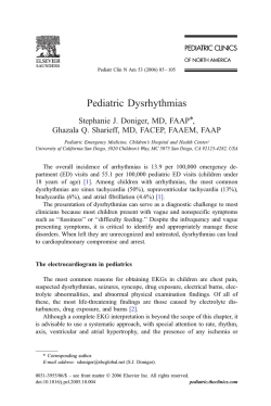 Pediatric Dysrhythmias Stephanie J. Doniger, MD, FAAPT,