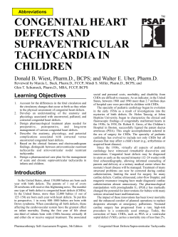 CONGENITAL HEART DEFECTS AND SUPRAVENTRICULAR TACHYCARDIA IN