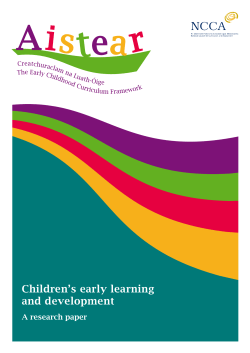 Children's early learning and development A research paper