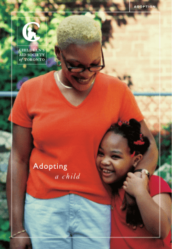 + grow Adopting a child www.TorontoCAS.ca